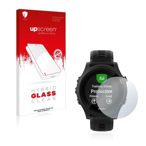 upscreen Hybrid Glass Clear Premium Panzerglasfolie für Forerunner 935