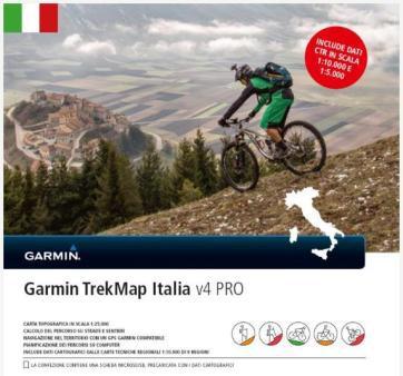 Garmin TrekMap Italien v4 Pro - microSD/SD