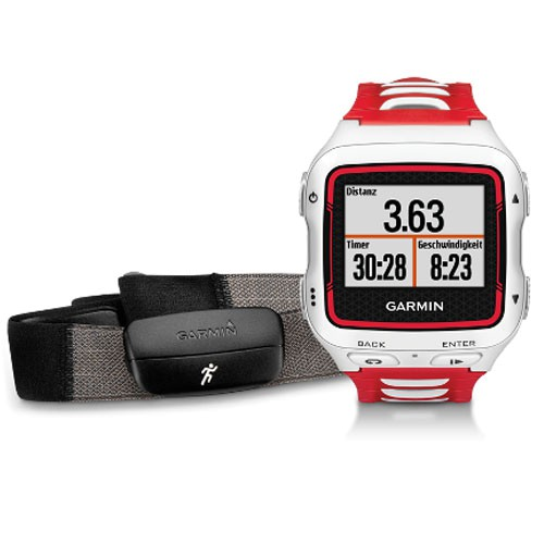Garmin Forerunner 920XT HR Weiß/Rot Inkl. Premium HF-Brustgurt Run