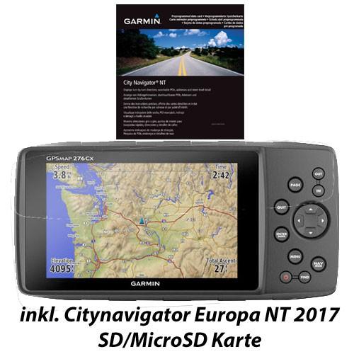 Garmin Gpsmap 276Cx inkl. MicroSD Karte CN Europa NT 2017
