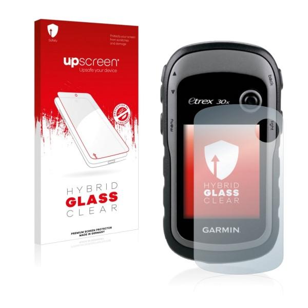 upscreen Hybrid Glass Clear Premium Panzerglasfolie für eTrex 30x