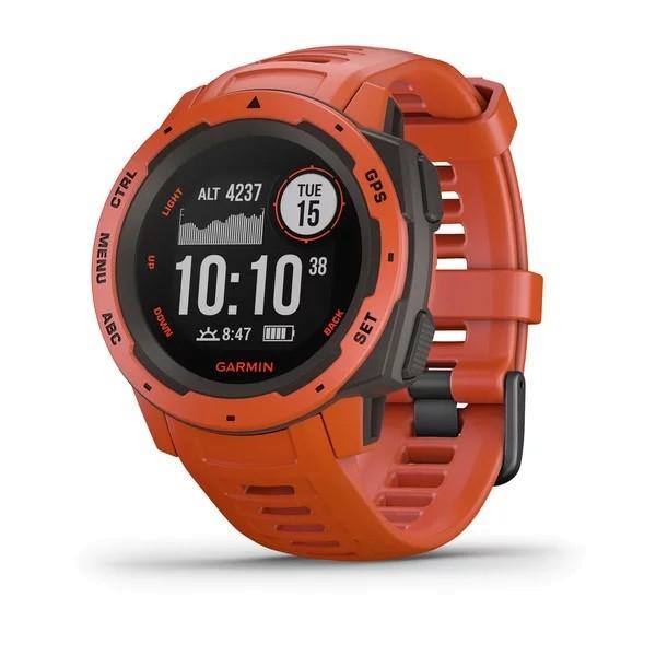 Garmin Instinct Outdoor-Smartwatch Hellrot/Schiefergrau