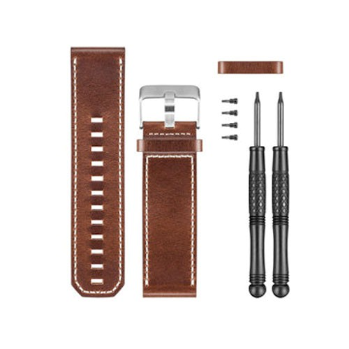 Garmin Leder Ersatzarmband Braun Fenix 3