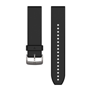 Garmin QuickFit 22-Uhrenarmband - Schwarz/Silber - Silikon