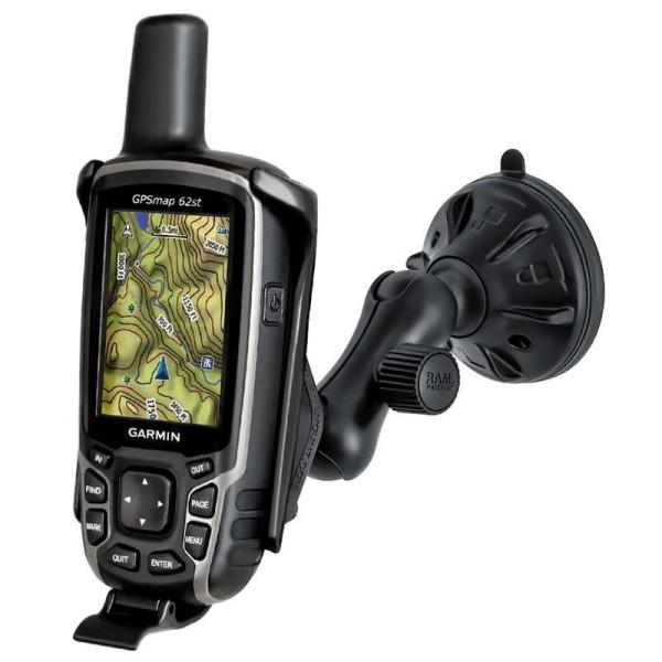 Ram Kompletthalter Saugnapf GPSMAP 62/64