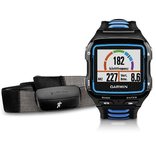Garmin Forerunner 920XT HR Schwarz/Bl Inkl. Premium HF-Brustgurt Run