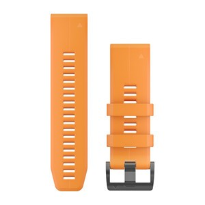 Garmin QuickFit 26-Armband - Orange Schnalle in Schwarz