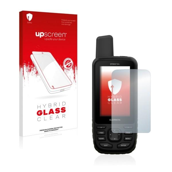upscreen Hybrid Glass Clear Premium Panzerglasfolie für GPSMAP 66s