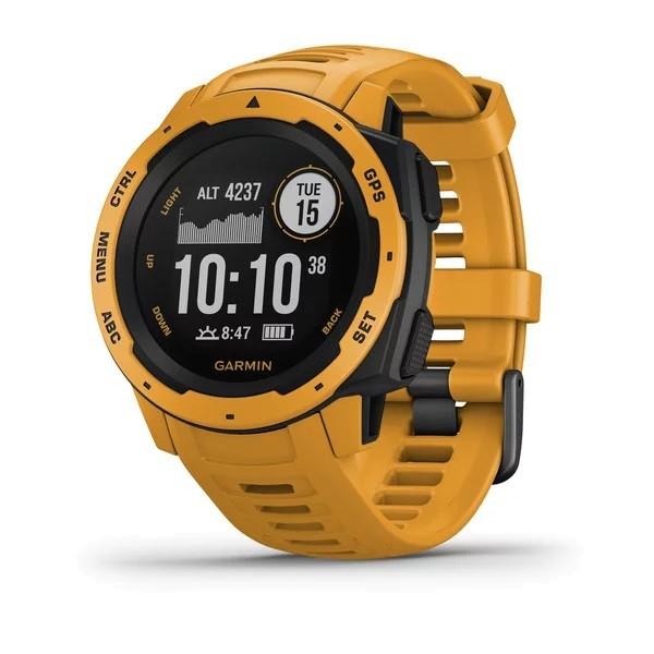 Garmin Instinct Outdoor-Smartwatch Gelb/Schwarz