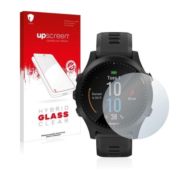 upscreen Hybrid Glass Clear Premium Panzerglasfolie für Forerunner 945