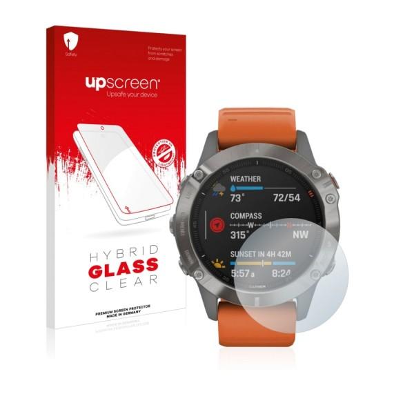 upscreen Hybrid Glass Clear Premium Panzerglasfolie für 33mm Display