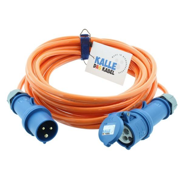 CEE Camping Kabel KALLE Blue SIGNAL orange