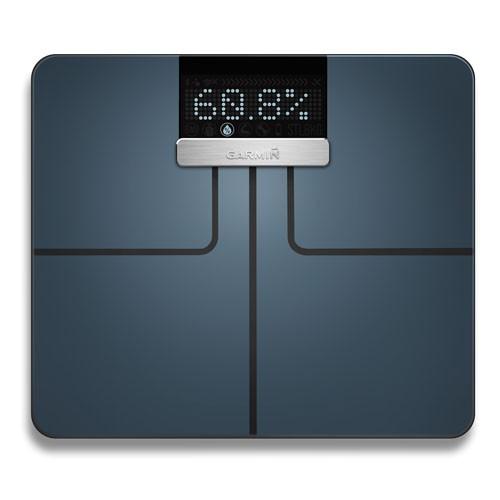 Garmin Index Smart - Waage Schwarz mit Körperanalysedaten